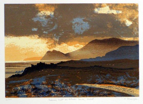 Evening light on Atlantic Drive, Achill - Ireland