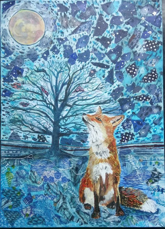 Blue moon and the Fox