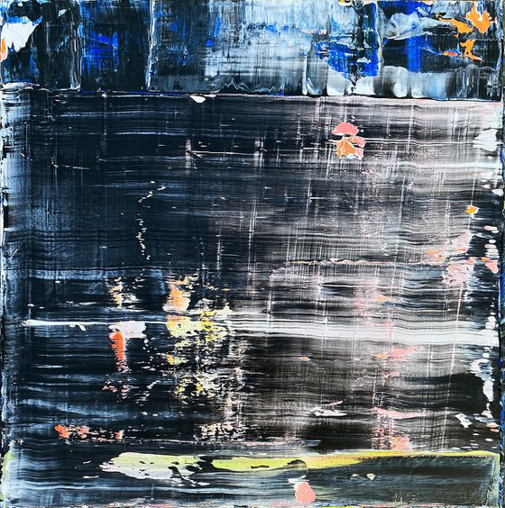 """""""Modern AF"""" - Original PMS Abstract Acrylic Painting On Canvas - 24"""" x 24"""""""
