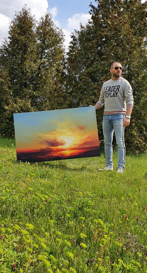 """"""" Hope springs Eternal """"  Large painting W 130 x H 80 cm"""