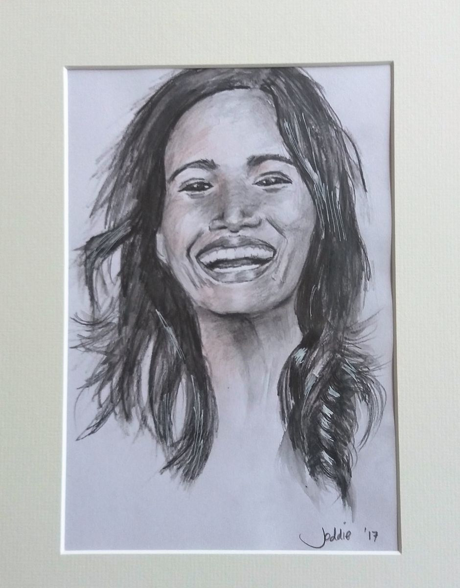 Big smile 2017 pencil drawing