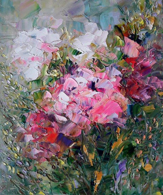 Flowers Painting Floral Original Art Flowers Impasto Floral Flower Painting Art Painting Canvas by Kseniya Kovalenko