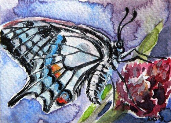 Butterfly II - mini artwork /9,5 x 7 cm/
