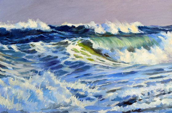The crazy stormy sea II
