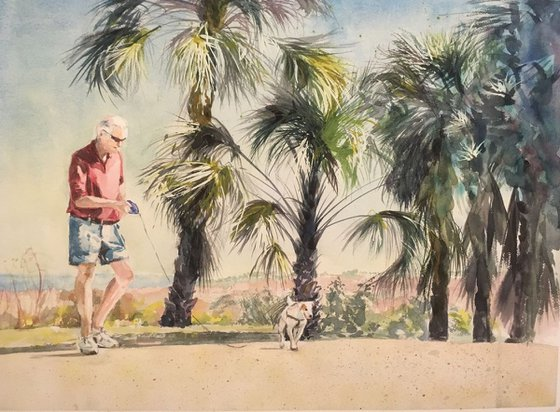 A Floridian and His Dog