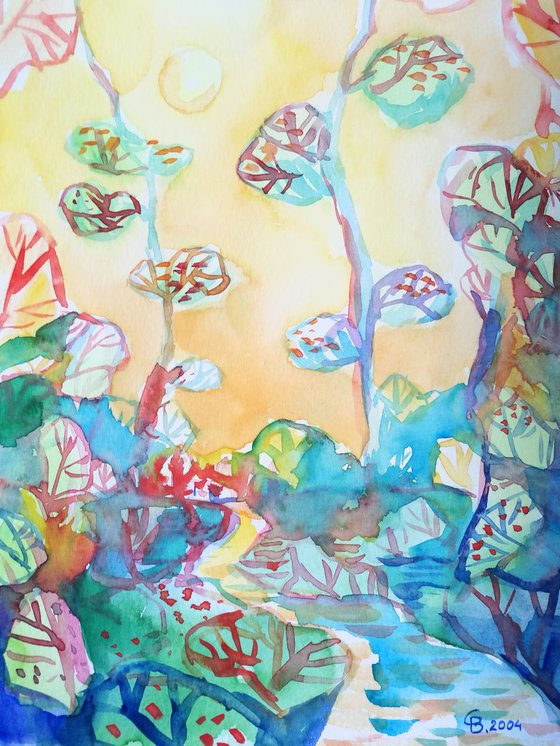 Painting   Watercolor   Spring I