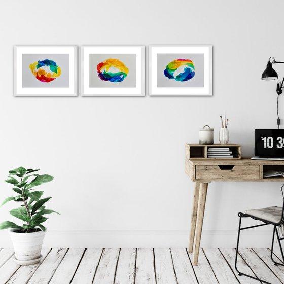 MOVING LIGHT RADIATION (Triptych)