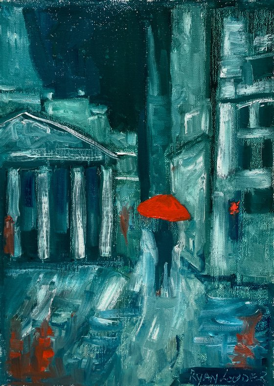 London In The Rain - London Painting - Picture of London - London Artwork