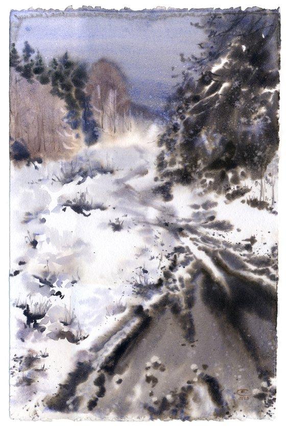 Winter. Monochrome Etude #2.