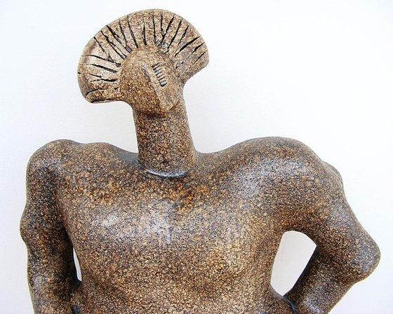 Norse Deity - Waltraute, a Valkyrie - Ceramic Sculpture