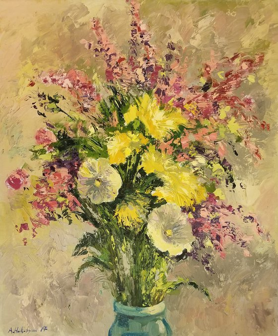 Still Life with Flowers - One of Kind