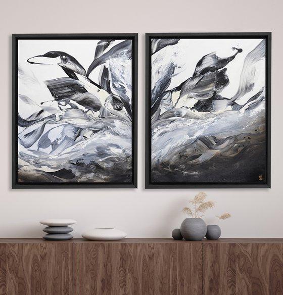 Deux Waterbird Dyptich