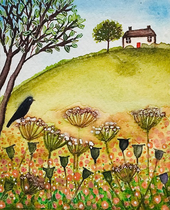 Field View, watercolour painting