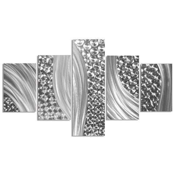 Columnar Riverbed by Helena Martin - Original Abstract Metal Art on Metal