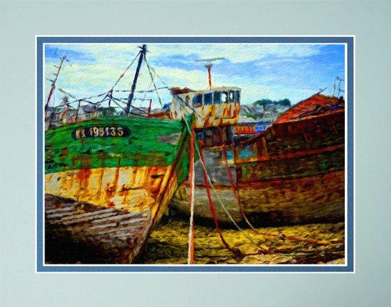 Boat Graveyard France Impressionist print
