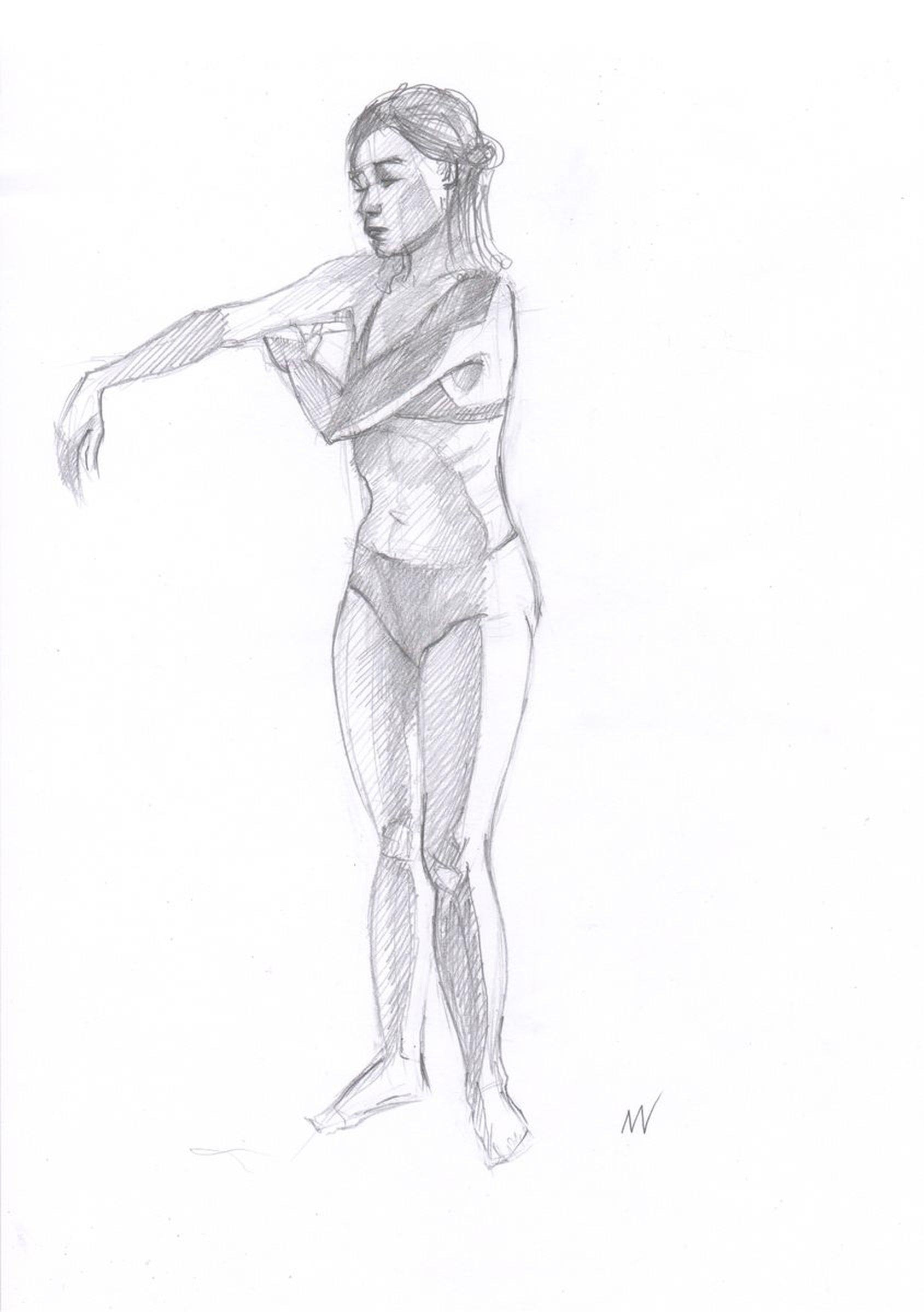 Sketch of human body woman 74