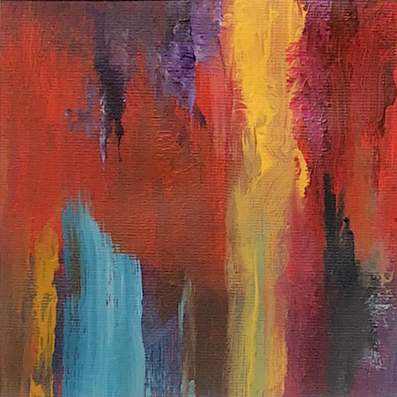 Fusion I - framed original abstract painting