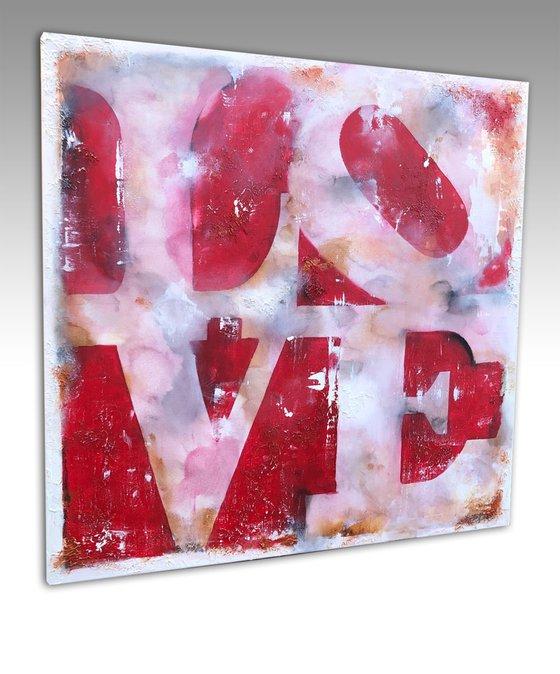 love pop  (90 x 90 cm) Dee Brown Artworks