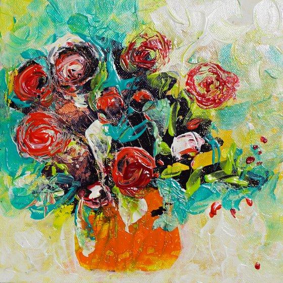 red roses 8x8in 20x20cm
