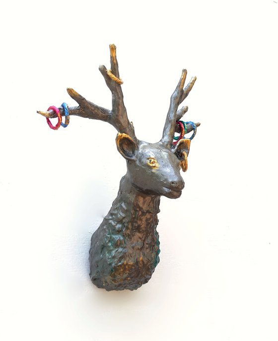 Faux Deer Head Mount Paper Sculpture