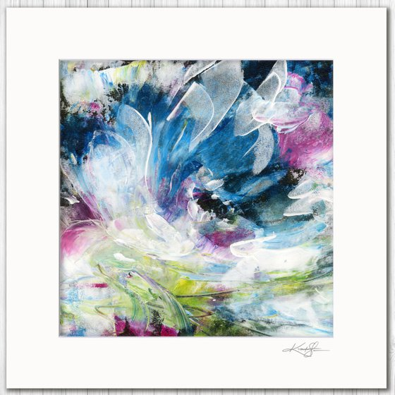 Poetic Escape 2 - Abstract Floral Painting by Kathy Morton Stanion