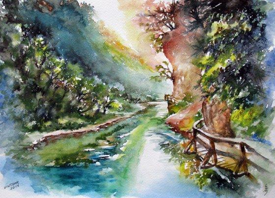 Walking through the Vintgar gorge