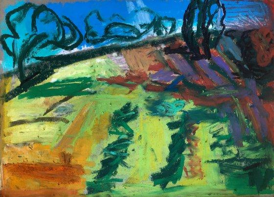 Landscape With Purple Sky III