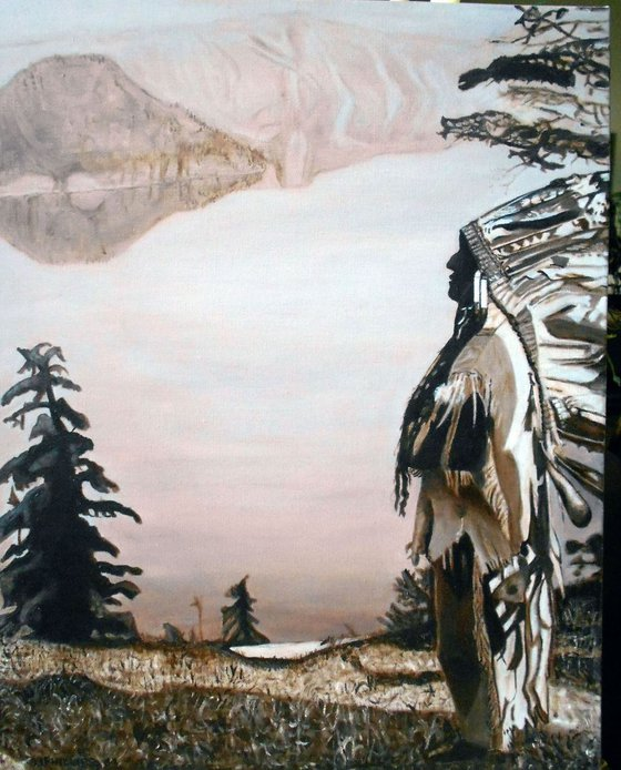 Chief Overlooking Crater Lake