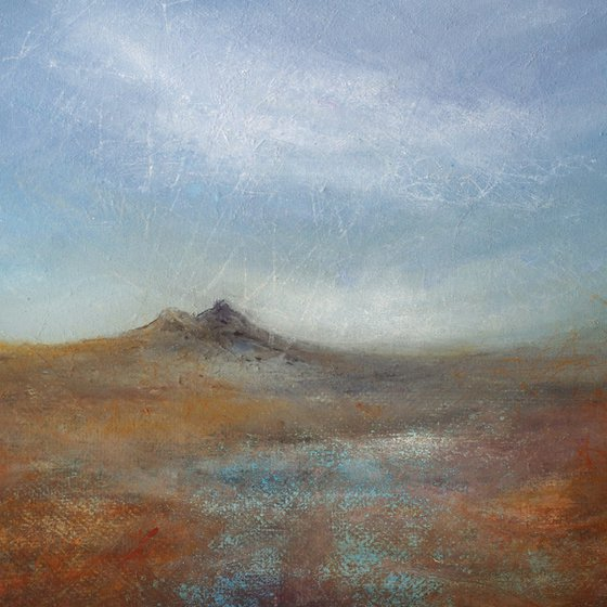 Flow country dawn, Scottish moorland landscape  in muted autumn colours