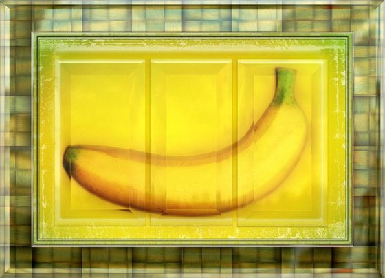 Banana Triptych on Acrylic