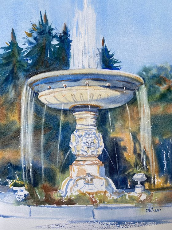 """Petersburg impressions. Fountain """"The Vase"""""""