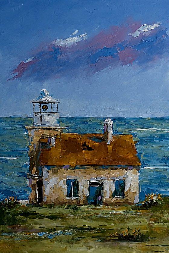 Marlera light house in Croatia. Adriatic coast. Croatian landscape