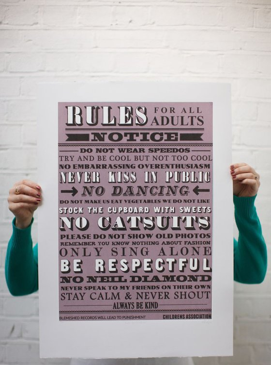 Rules for ADULTS