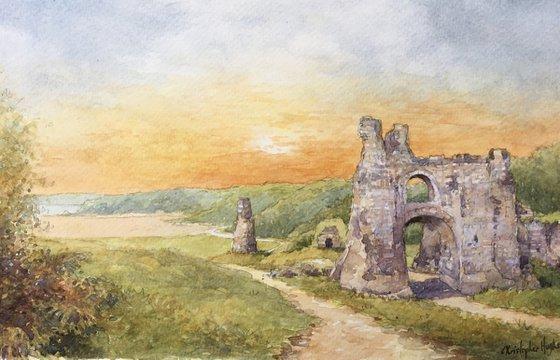 Pennard Castle.The Gower.Swansea