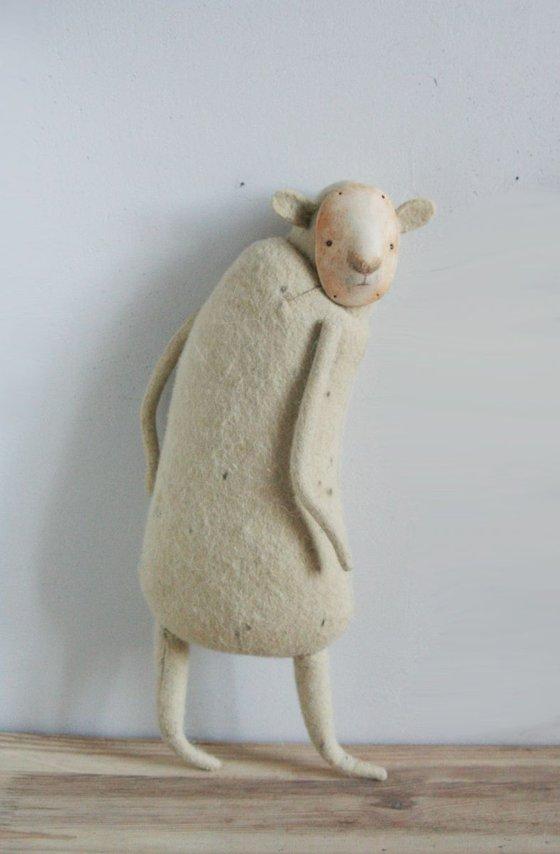 mixed media sculpture, cute doll Svante