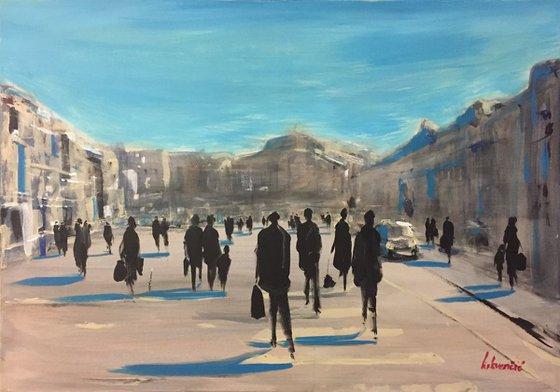 People walking #2 100x70cm