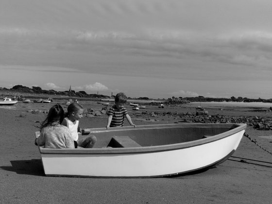 Messing about in a boat at the seaside