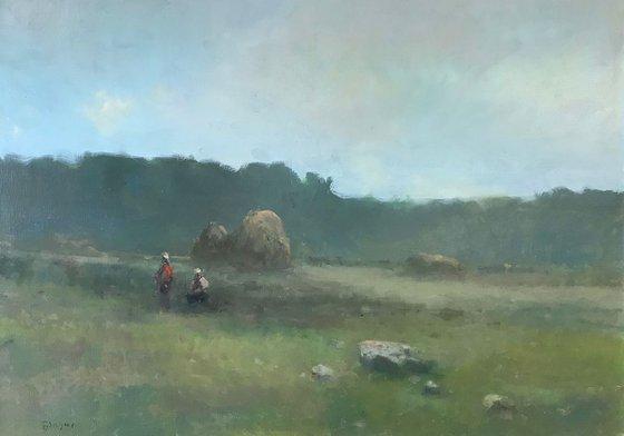 Landscape,  Original oil Painting, Handmade artwork, Signed, One of a Kind