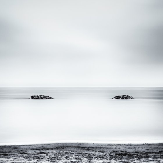 Two rocks emerging from the sea
