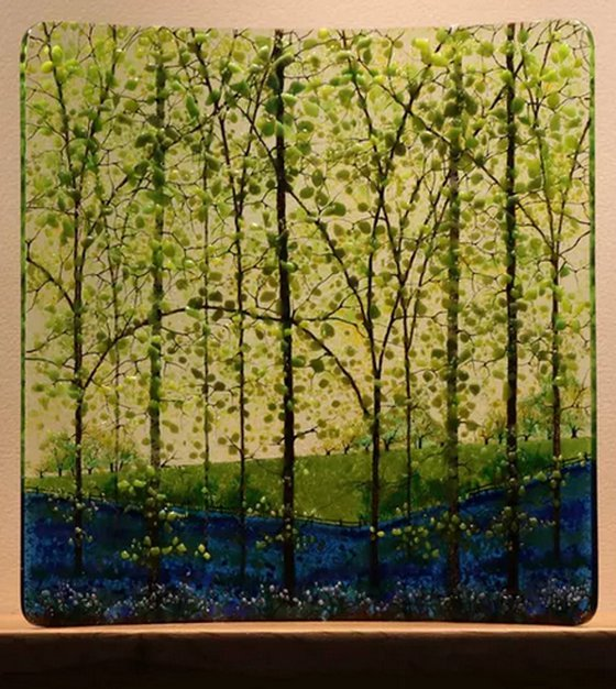 Glass Bluebell Square Curve (Made to Order)
