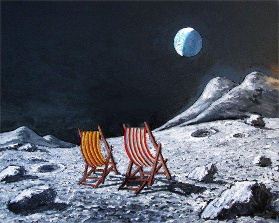 moon II: waxing crescent: deckchairs