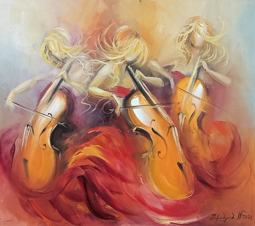 Trio storm-2 (70x80cm, oil painting, ready to hang)