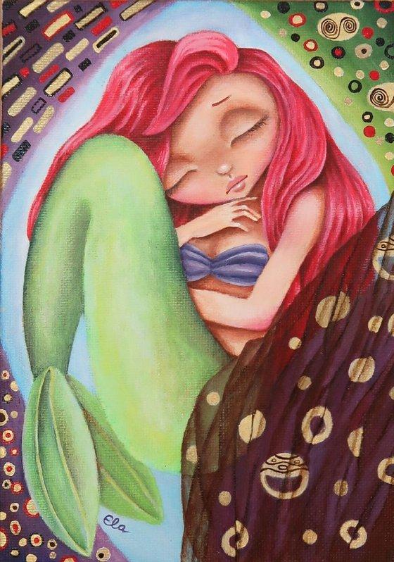 Ariel a la Klimt