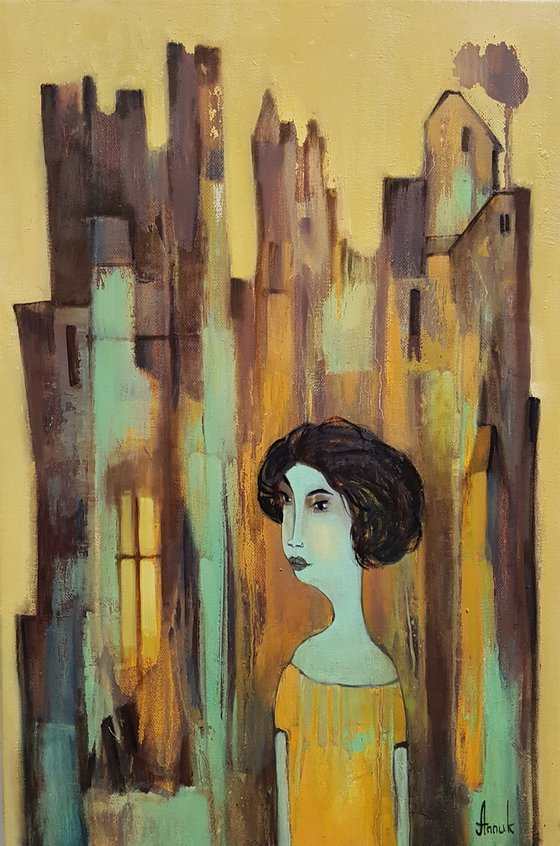 The window (40x60cm, acrylic on canvas, ready to hang)