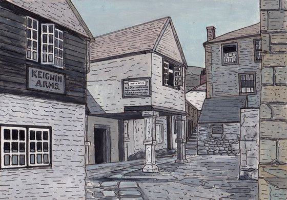 The Keigwin Arms, Mousehole - 1893