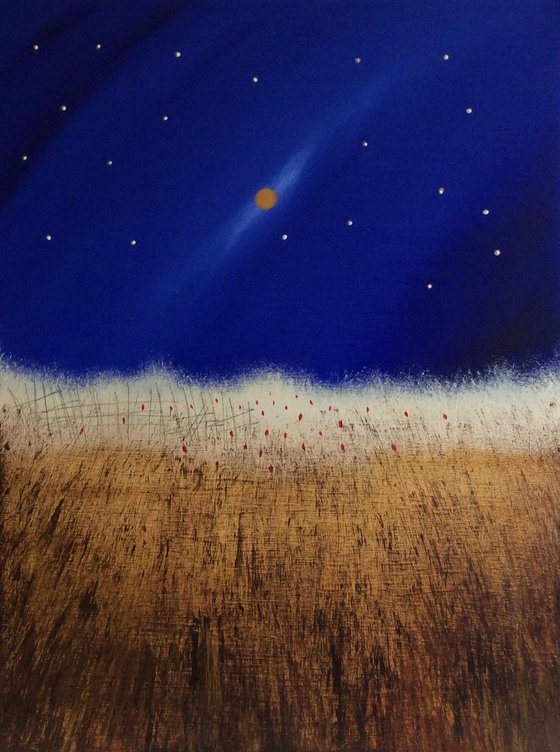 """""""Wild Wheat And A Golden Moon"""" 60x80x4cm"""