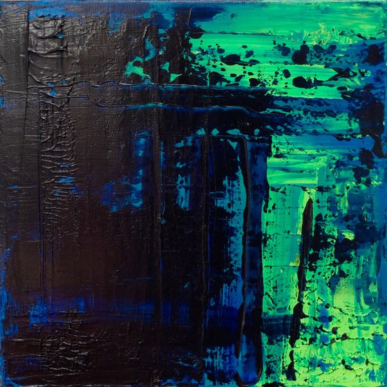 Blue/Green Abstract #185
