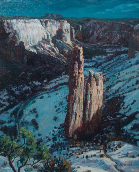 Canyon de Chelly in Moonlight