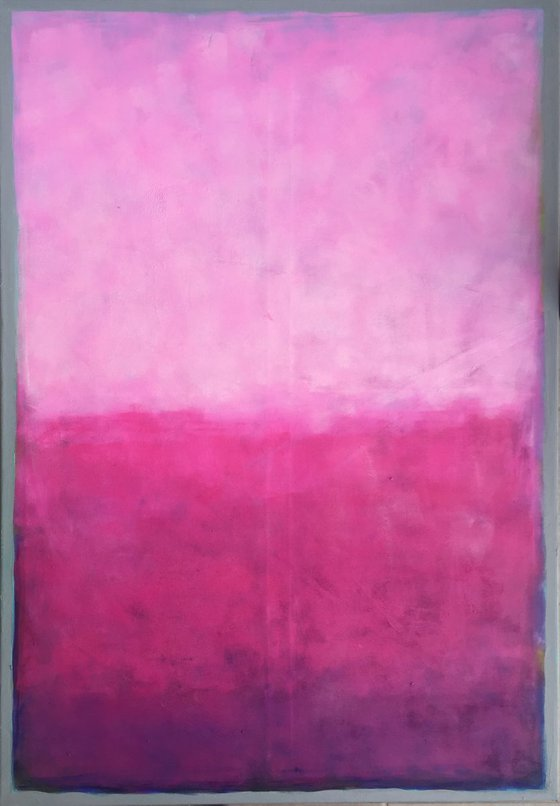 Abstract colourfield painting - Pink + Magenta (2018)