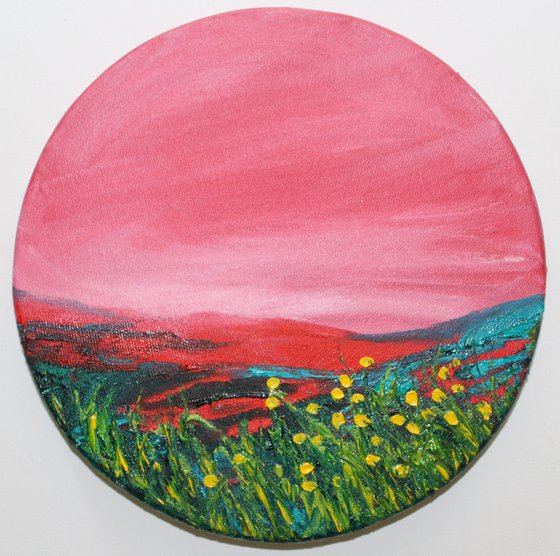 A beautiful place to be - Landscape oil painting on a stretched canvas - ready to hang.